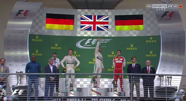 Podium after the US GP