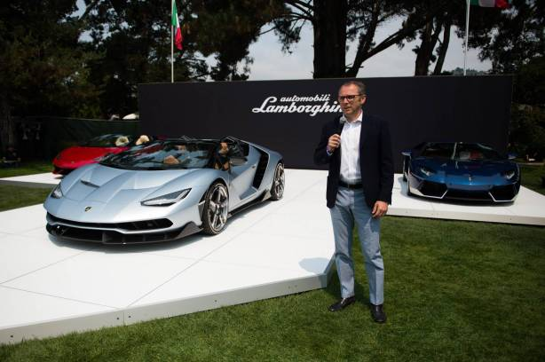 Lamborghini Centenario Roadster revealing